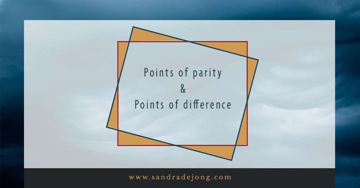 positionering - point of parity - points of difference